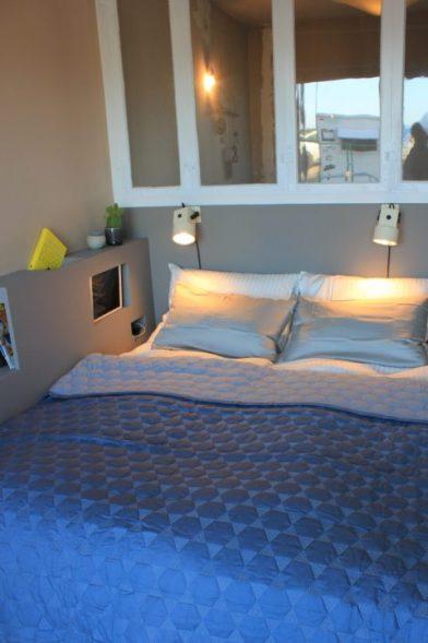 Gul lejlighed - Nybyggerne - DIY seng og vinduesvæg
