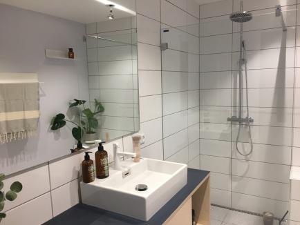 Færdigt badeværelse