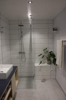 Færdigt badeværelse - Gul lejlighed