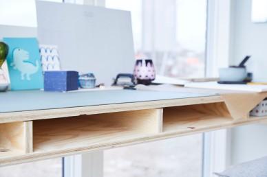 Ekstra værelse - Gul lejlighed skrivebord