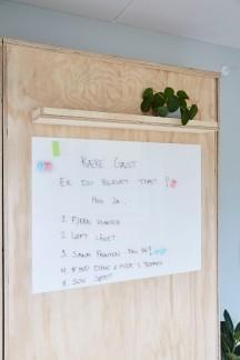 Ekstra værelse - Gul lejlighed - tavle