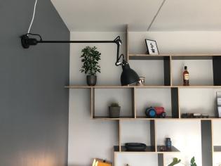 Lampe Gras og DIY Reol